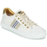 Cipők Női Rövid szárú edzőcipők Replay EXTRA Fehér / Arany
