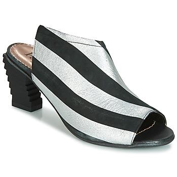 Cipők Női Szandálok / Saruk Papucei BETINA Fekete  / Fehér