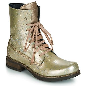 Cipők Női Csizmák Papucei JANET Zöld / Bézs