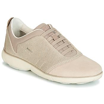 Cipők Női Rövid szárú edzőcipők Geox D NEBULA Bézs / Krém