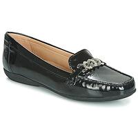 Cipők Női Mokkaszínek Geox D ANNYTAH MOC Fekete