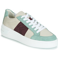 Cipők Női Rövid szárú edzőcipők Geox D OTTAYA Krém / Zöld