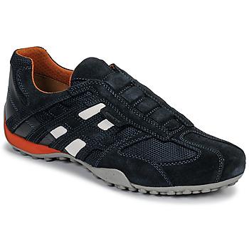 Cipők Férfi Rövid szárú edzőcipők Geox UOMO SNAKE Kék / Fekete