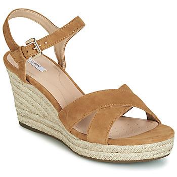 Cipők Női Szandálok / Saruk Geox D SOLEIL Teve