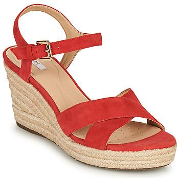 Cipők Női Szandálok / Saruk Geox D SOLEIL Piros / Korall