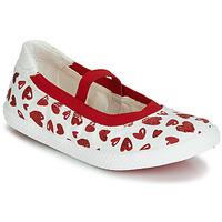Cipők Lány Balerina cipők / babák Geox J KILWI GIRL Fehér / Piros