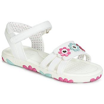 Cipők Lány Szandálok / Saruk Geox J SANDAL HAITI GIRL Fehér