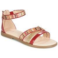 Cipők Lány Szandálok / Saruk Geox J SANDAL KARLY GIRL Piros / Arany