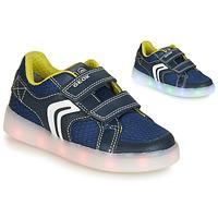 Cipők Fiú Rövid szárú edzőcipők Geox J KOMMODOR BOY Kék / Led