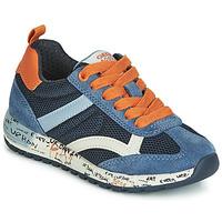 Cipők Fiú Rövid szárú edzőcipők Geox J ALBEN BOY Tengerész / Narancssárga