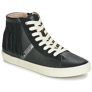 Cipők Lány Magas szárú edzőcipők Geox J KILWI GIRL Fekete