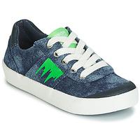 Cipők Fiú Rövid szárú edzőcipők Geox J KILWI BOY Kék / Zöld