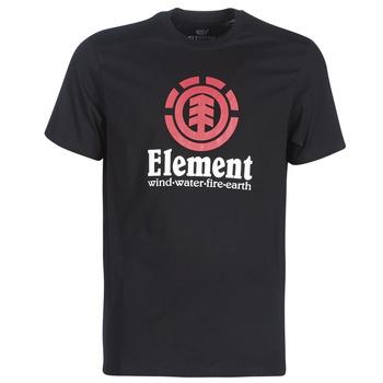 Ruhák Férfi Rövid ujjú pólók Element VERTICAL SS Fekete