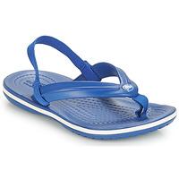 Cipők Gyerek Lábujjközös papucsok Crocs CROCBAND STRAP FLIP K Kék