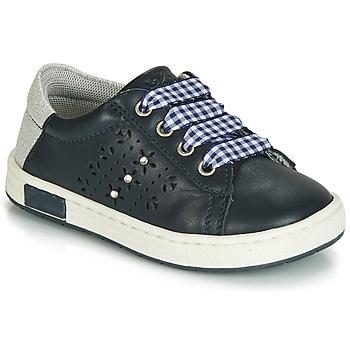 Cipők Lány Rövid szárú edzőcipők Chicco CLARETTA Tengerész / Tarkán szőtt pamutszövet