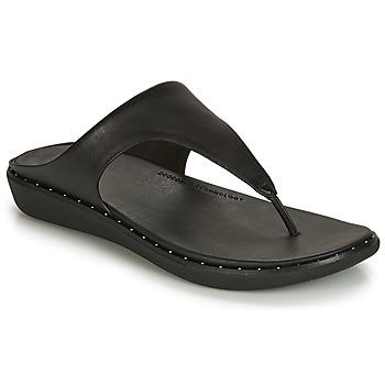 Cipők Női Lábujjközös papucsok FitFlop BANDA II Fekete