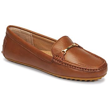 Cipők Női Mokkaszínek Lauren Ralph Lauren BRIONY Konyak