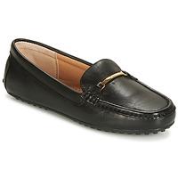 Cipők Női Mokkaszínek Lauren Ralph Lauren BRIONY Fekete