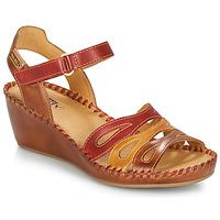 Cipők Női Szandálok / Saruk Pikolinos MARGARITA 943 Piros / Barna