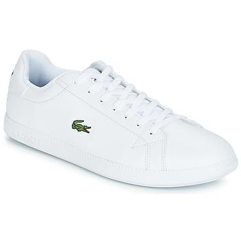 Cipők Férfi Rövid szárú edzőcipők Lacoste GRADUATE BL 1 Fehér