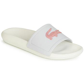 Cipők Női strandpapucsok Lacoste CROCO SLIDE 119 3 Fehér / Rózsaszín