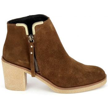 Cipők Női Bokacsizmák Porronet Boots 4032 Marron Barna