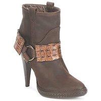 Cipők Női Bokacsizmák Roberto Cavalli QPS577-PK206 Barna