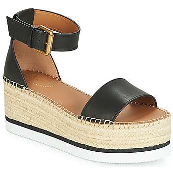 Cipők Női Gyékény talpú cipők See by Chloé SB32201A Fekete