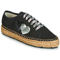 Cipők Női Gyékény talpú cipők Love Moschino JA10263G07 Fekete