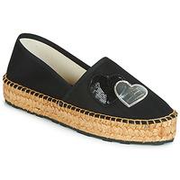 Cipők Női Gyékény talpú cipők Love Moschino JA10243G07 Fekete