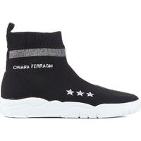 Cipők Női Magas szárú edzőcipők Chiara Ferragni CF1948 BLACK nero