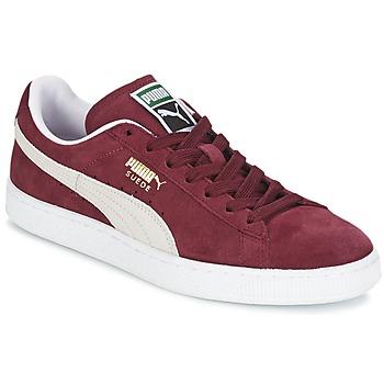 Cipők Rövid szárú edzőcipők Puma SUEDE CLASSIC Bordó