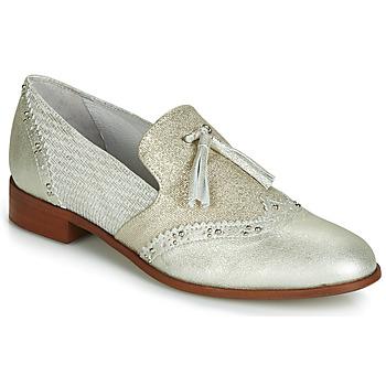 Cipők Női Mokkaszínek Regard REVAMI V3 METALCRIS ICE Ezüst