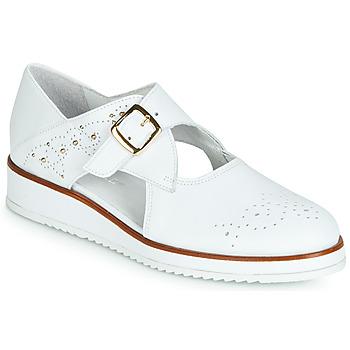 Cipők Női Oxford cipők Regard RIXALO V1 NAPPA BLANC Fehér