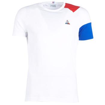 Ruhák Férfi Rövid ujjú pólók Le Coq Sportif ESS Tee SS N°10 M Fehér / Piros / Kék