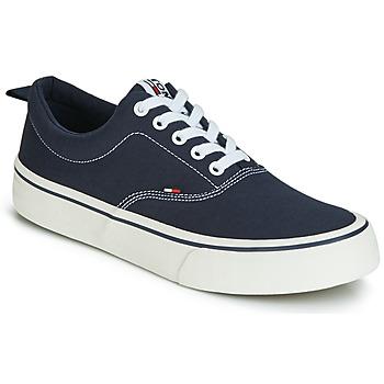 Cipők Férfi Rövid szárú edzőcipők Tommy Jeans VIRGIL 1D Fekete