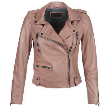 Ruhák Női Bőrkabátok / műbőr kabátok Oakwood NIGHT Öreg / Rózsaszín