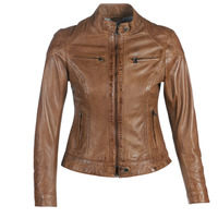 Ruhák Női Bőrkabátok / műbőr kabátok Oakwood LINA Konyak