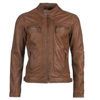 Ruhák Férfi Bőrkabátok / műbőr kabátok Oakwood CASEY Konyak