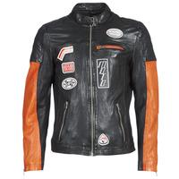 Ruhák Férfi Bőrkabátok / műbőr kabátok Oakwood INDIE Fekete  / Narancssárga