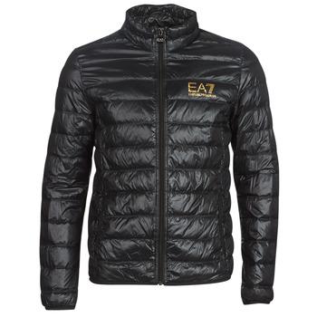 Ruhák Férfi Steppelt kabátok Emporio Armani EA7 TRAIN CORE ID DOWN LT Fekete  / Arany