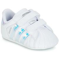 Cipők Lány Rövid szárú edzőcipők adidas Originals SUPERSTAR CRIB Fehér