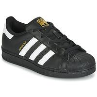 Cipők Gyerek Rövid szárú edzőcipők adidas Originals SUPERSTAR C Fekete  / Fehér