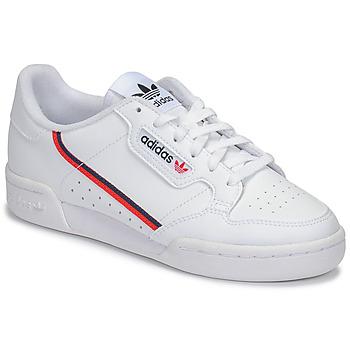 Cipők Gyerek Rövid szárú edzőcipők adidas Originals CONTINENTAL 80 J Fehér