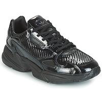 Cipők Női Rövid szárú edzőcipők adidas Originals FALCON W Fekete  / Fényes