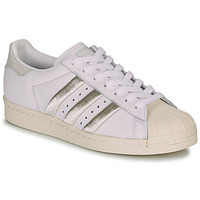 Cipők Női Rövid szárú edzőcipők adidas Originals SUPERSTAR 80s W Fehér / Bézs
