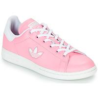 Cipők Lány Rövid szárú edzőcipők adidas Originals STAN SMITH J Rózsaszín