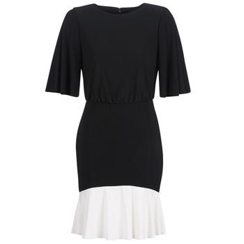 Ruhák Női Rövid ruhák Lauren Ralph Lauren ELBOW SLEEVE DAY DRESS Fekete  / Fehér