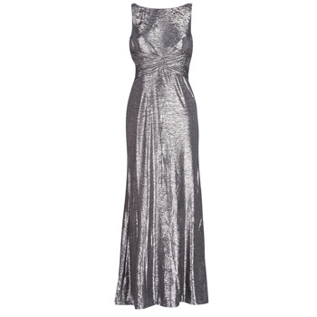 Ruhák Női Hosszú ruhák Lauren Ralph Lauren SLEEVELESS EVENING DRESS GUNMETAL Szürke / Ezüst