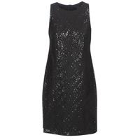 Ruhák Női Rövid ruhák Lauren Ralph Lauren SEQUINED SLEEVELESS DRESS Fekete